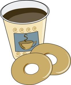 Free breakfast bagels cliparts. Bagel clipart coffee bagel