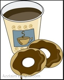 Bagel clipart coffee bagel. Chemistry club and doughnut