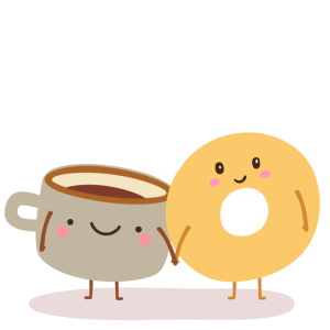 Bagel clipart coffee bagel. Meets dating app by