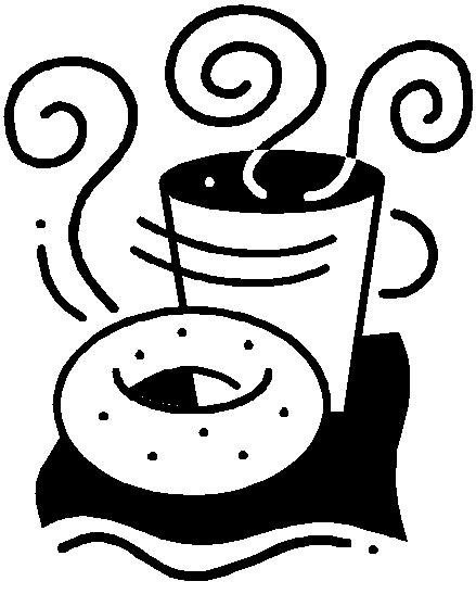 Bagels and clip art. Bagel clipart coffee bagel