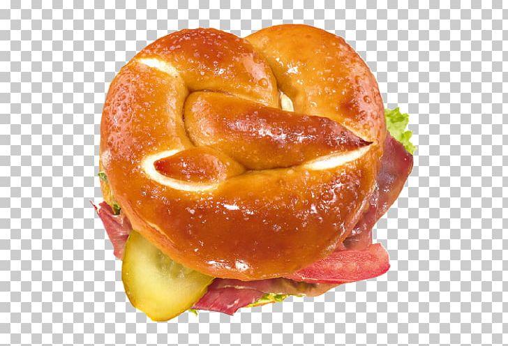 Pretzel lye roll breakfast. Bagel clipart danish pastry