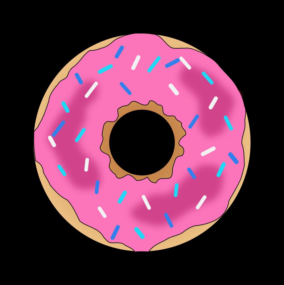 Onlinelabels clip art pink. Doughnut clipart bagel