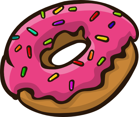 Doughnut clipart animated. Bagel pencil and in