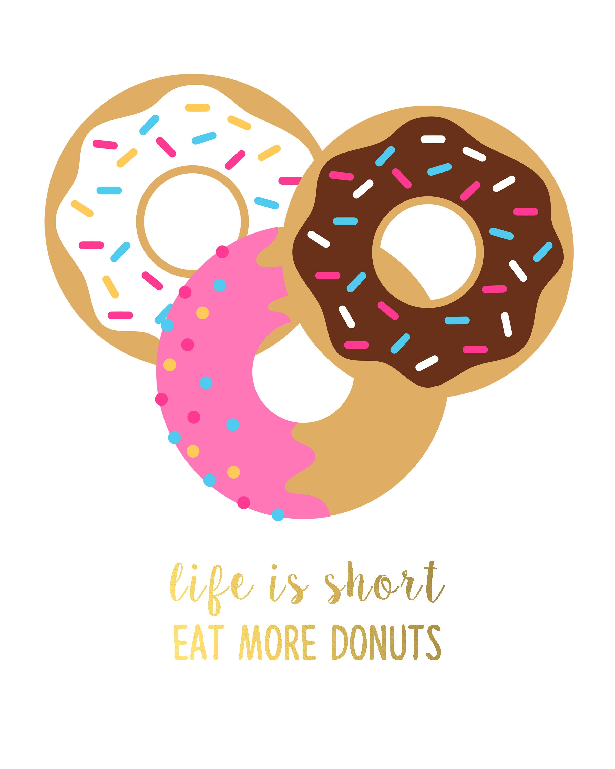 Free printable art with. Birthday clipart donut