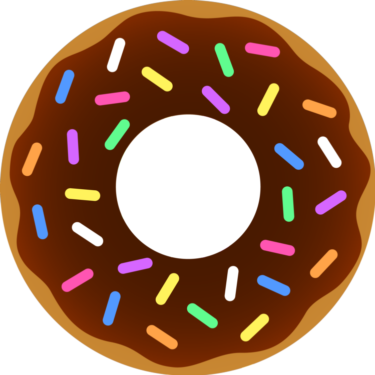Donuts clipart half donut. Food
