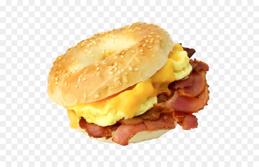 Bagel clipart egg. Bacon and cheese sandwich