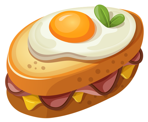 Bagel clipart egg. Sandwich with png vector