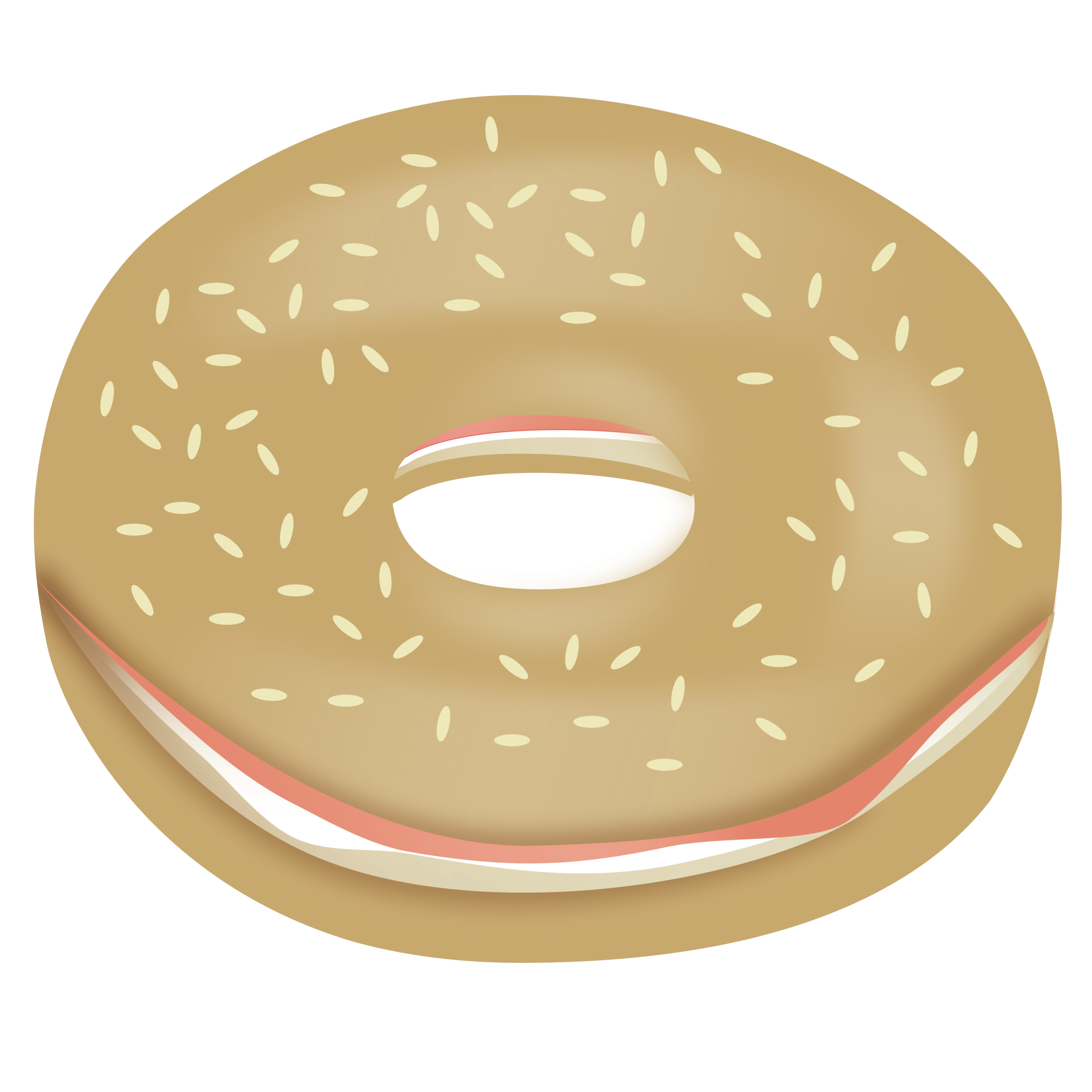 Designing a bagel emoji. Tired clipart fast