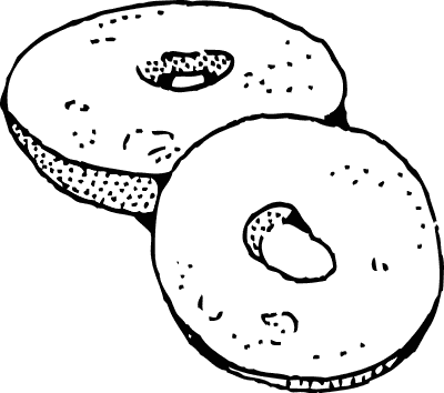 Free page of to. Bagel clipart plain
