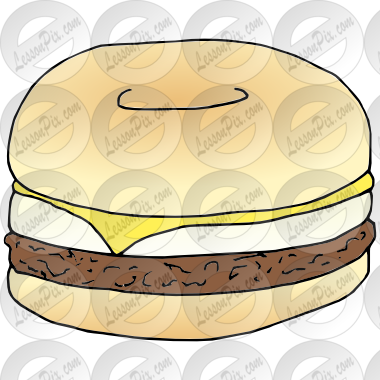 Breakfast picture for classroom. Bagel clipart yellow