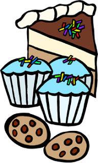 collection of black. Baked goods clipart