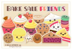 Baked goods clipart auction. Free printable bake sale