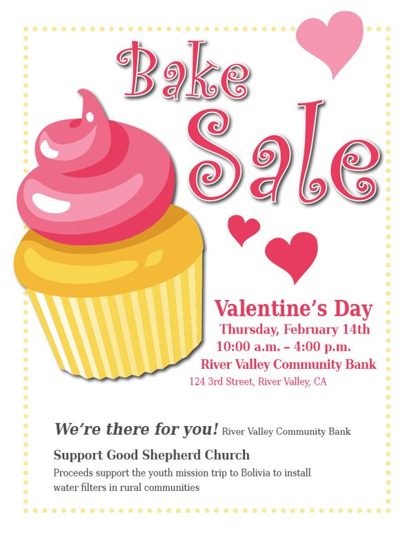 Bake sale poster ideas. Baked goods clipart auction