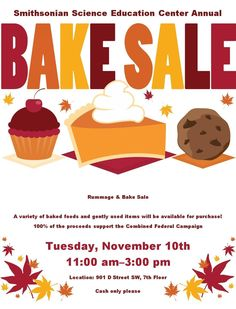 Bake sale flyer template. Baked goods clipart auction