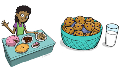 Bake sale ideas for. Baked goods clipart auction