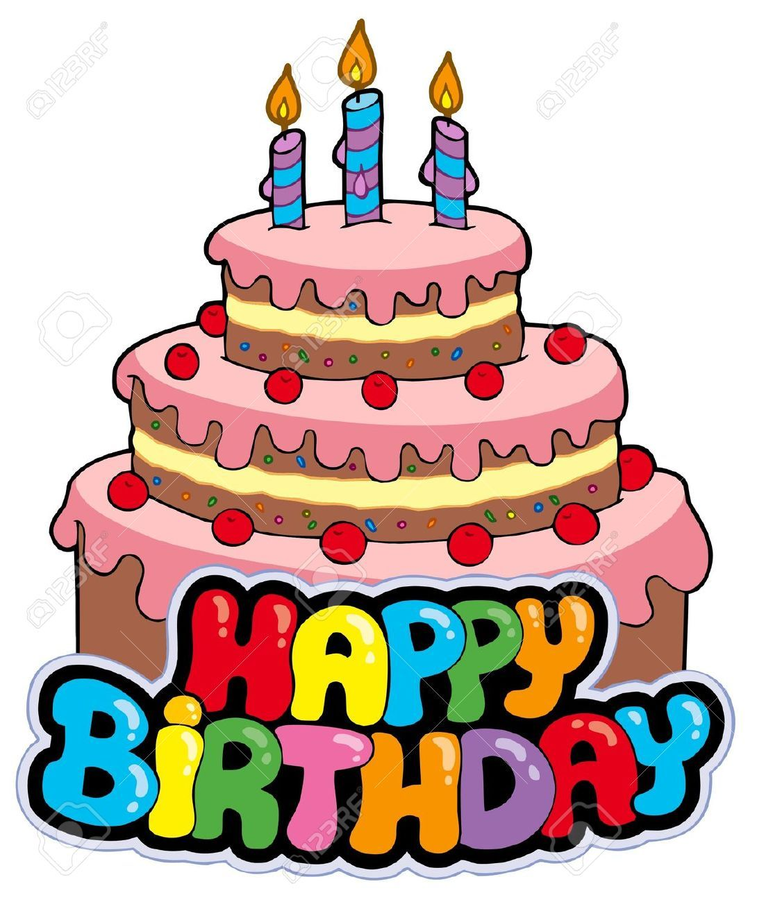Wishing a very happy. Bing clipart birthday cake