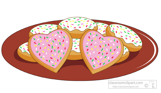 Baked goods clipart bake sale. Valentine treats valentines