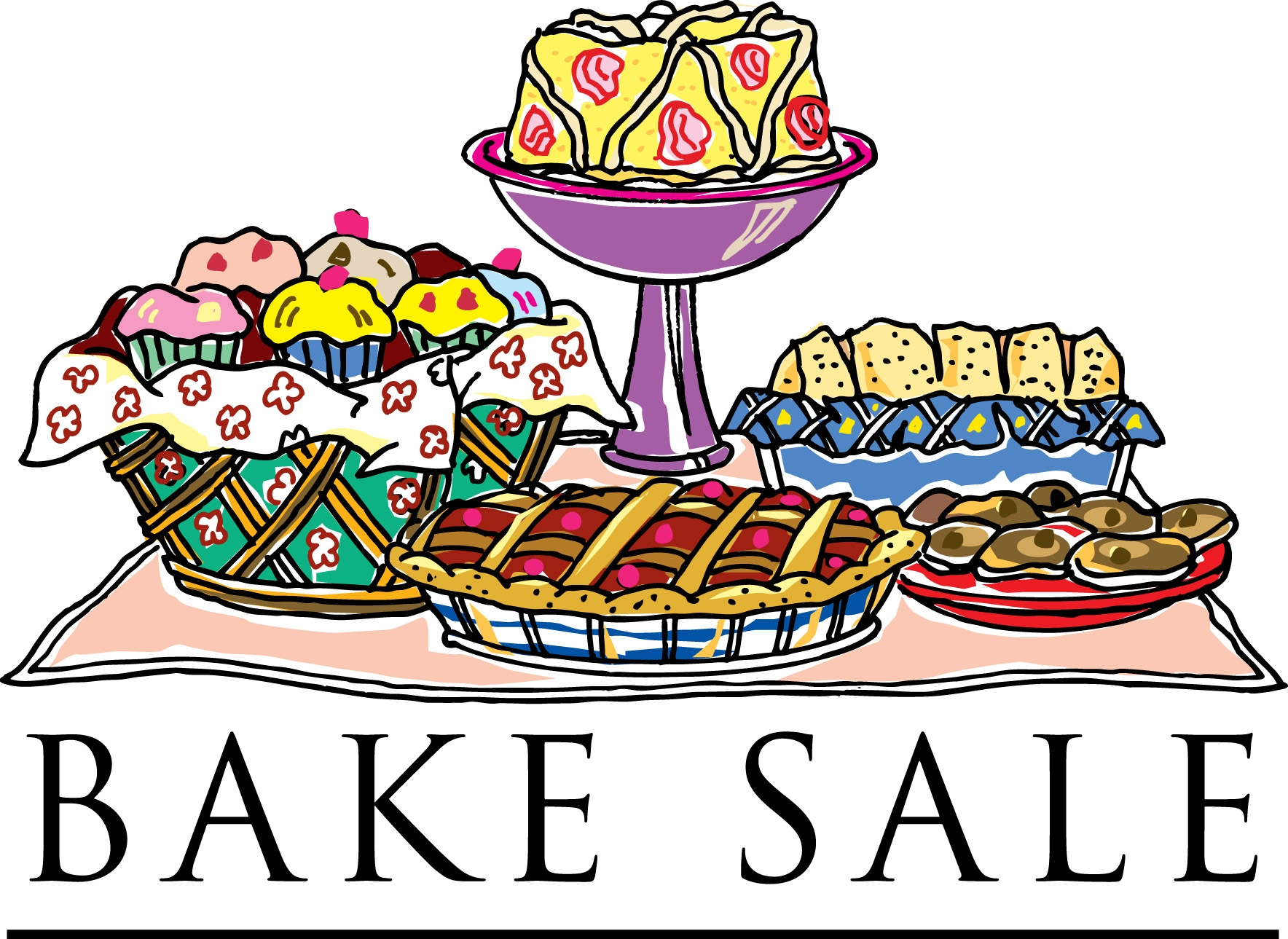 Free download best . Baked goods clipart bake sale