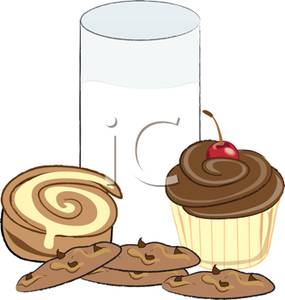 Baked goods clipart baked goody. Milk and cookies panda