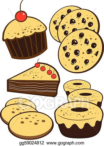 Vector stock illustration gg. Bakery clipart bakery item