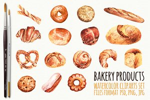 Bake photos graphics fonts. Baked goods clipart baked product