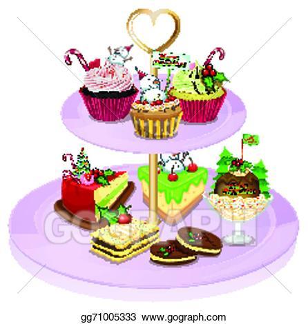 Baked goods clipart baked sweet. Vector art a cupcake