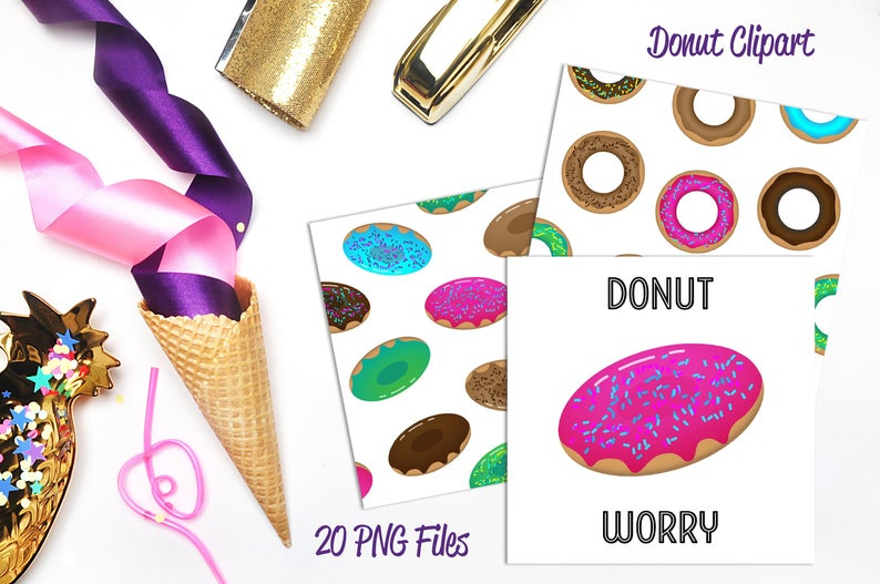 Baked goods clipart baked treat. Donuts clip art sweets