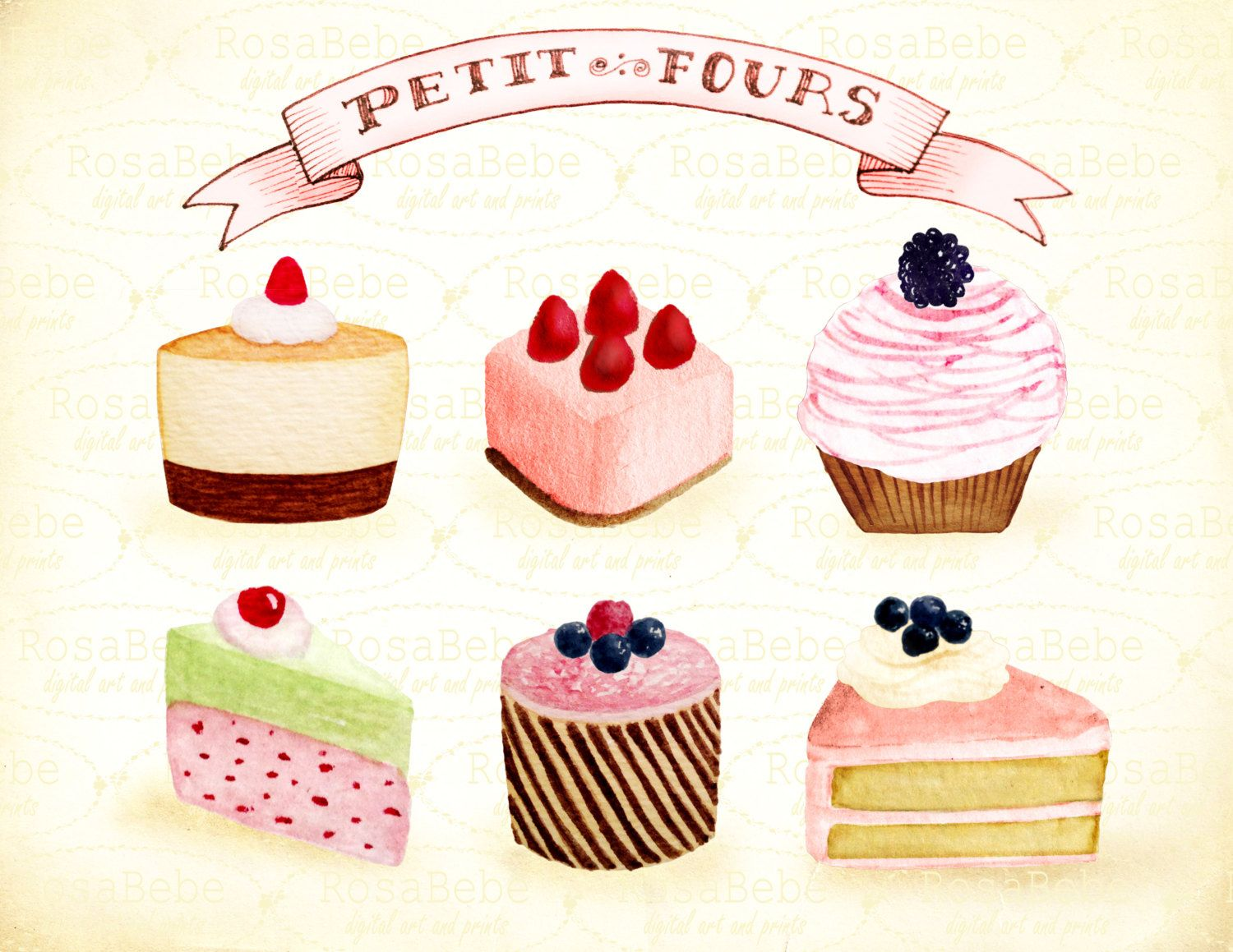 Bakery clipart baked goods. Cupcake bake party hand