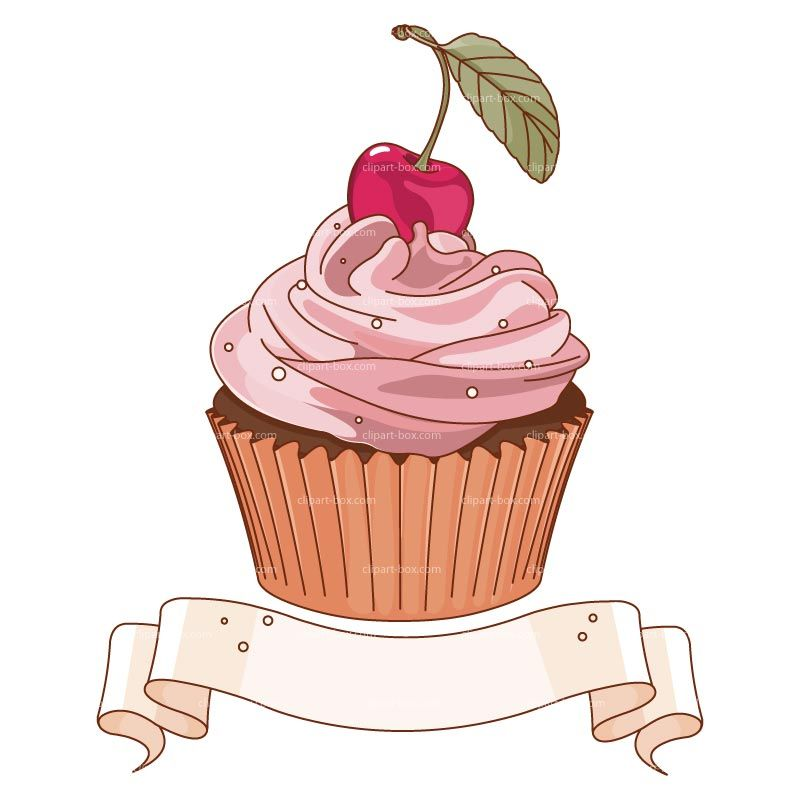 Royalty free vector design. Clipart cupcake banner