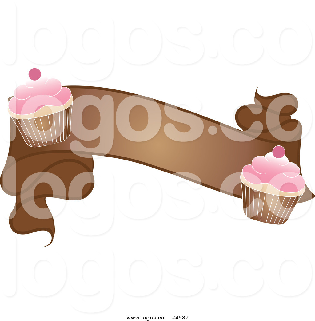 Royalty free blank brown. Clipart cupcake banner