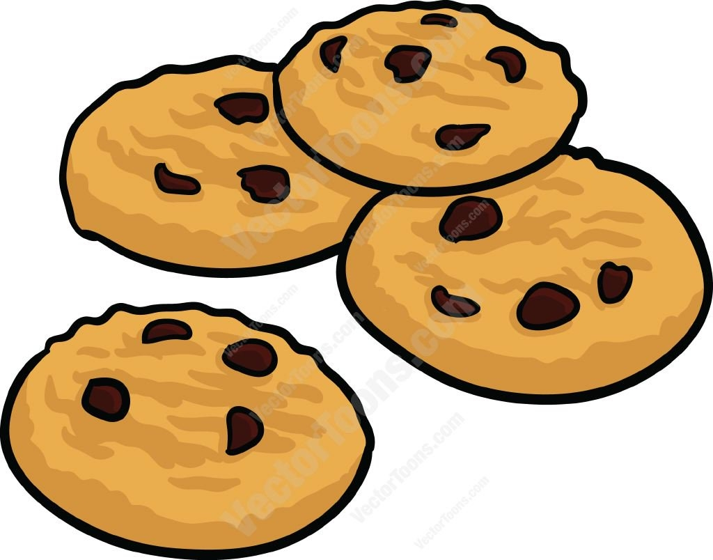 Baked goods clipart biscuit. New chocolate chip cookies