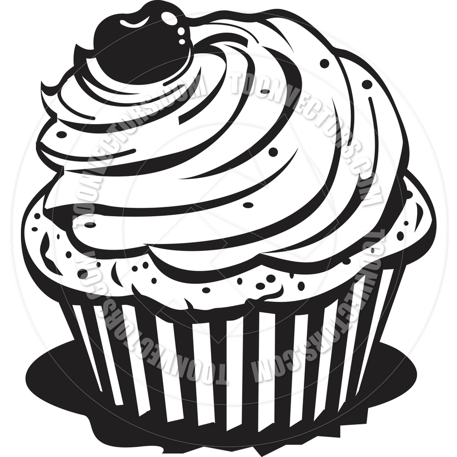 Baked goods black and white