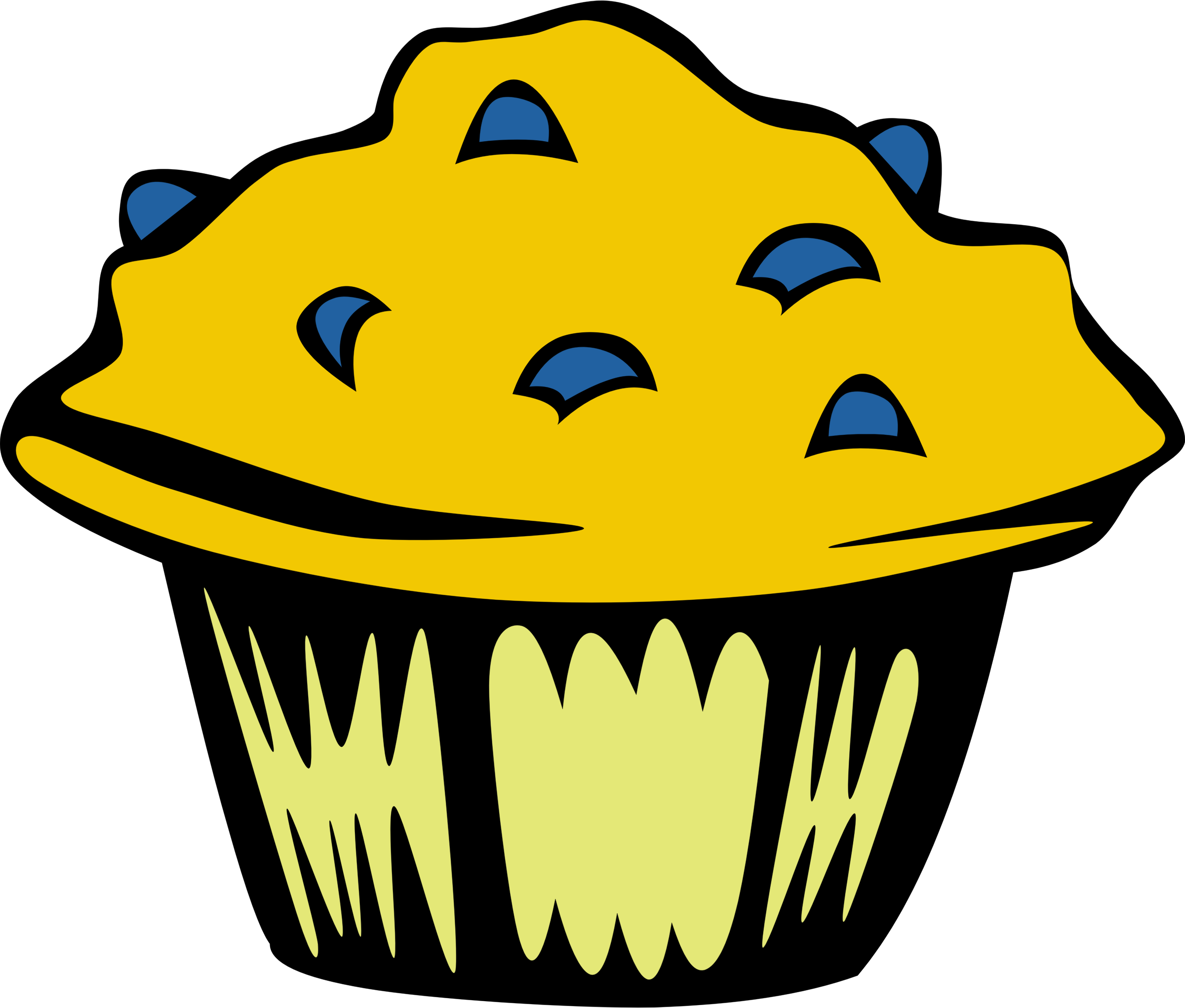 Blueberry muffin big fast. Muffins clipart yellow cupcake