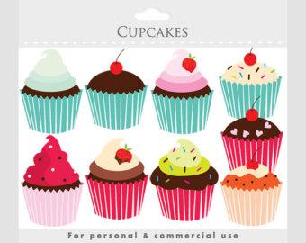 Cupcake chalkboard clip art. Baked goods clipart border