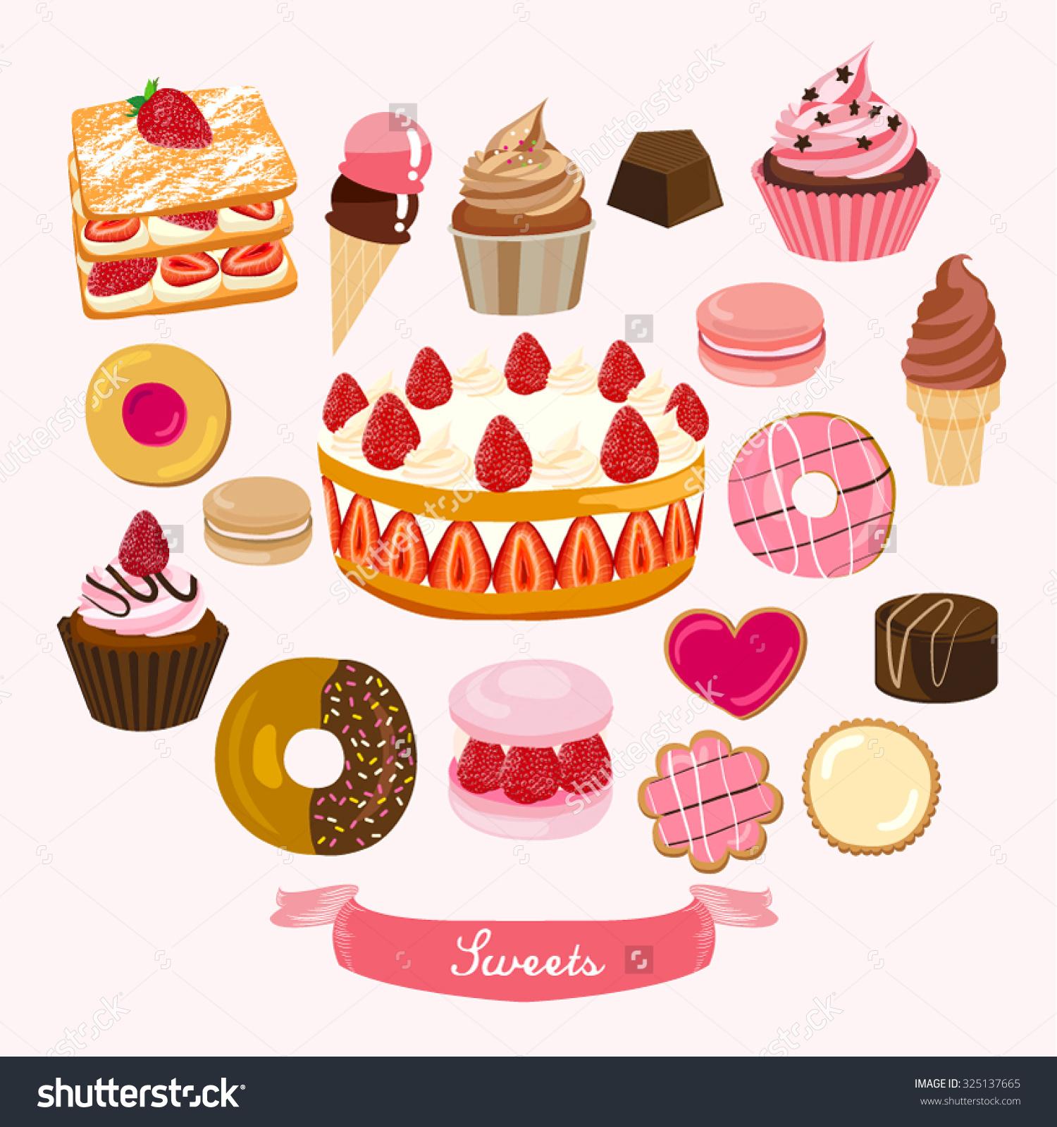 Baking dessert vector explore. Baked goods clipart border