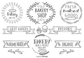 Baked goods clipart border. Bakery free vector art