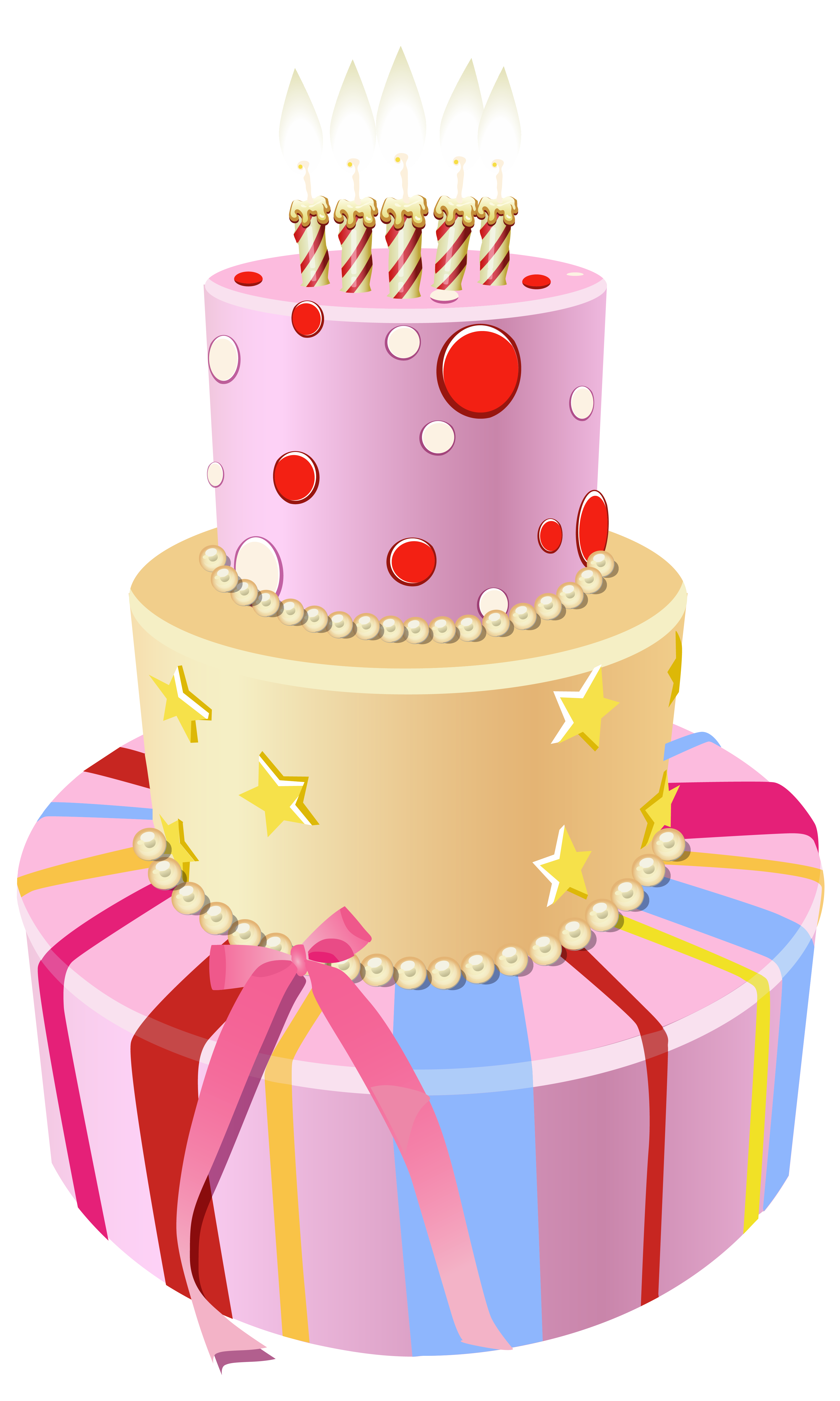 Cake pink image collections. Clipart rose birthday