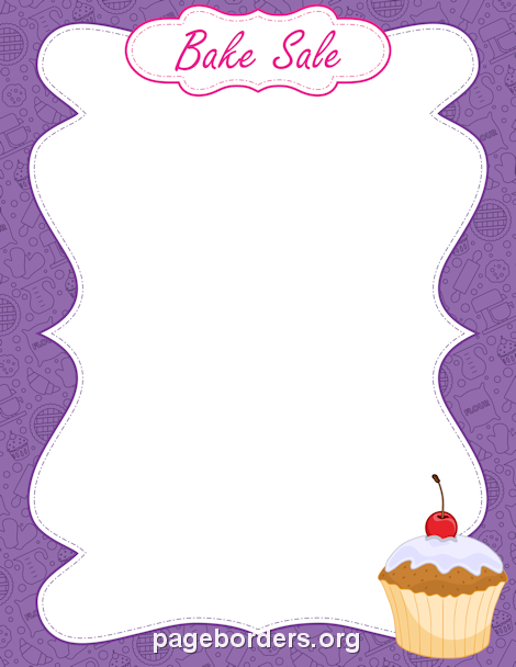 Pin by muse printables. Baked goods clipart border