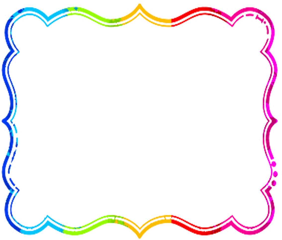 Rainbow frame png. Free baked goods clipart