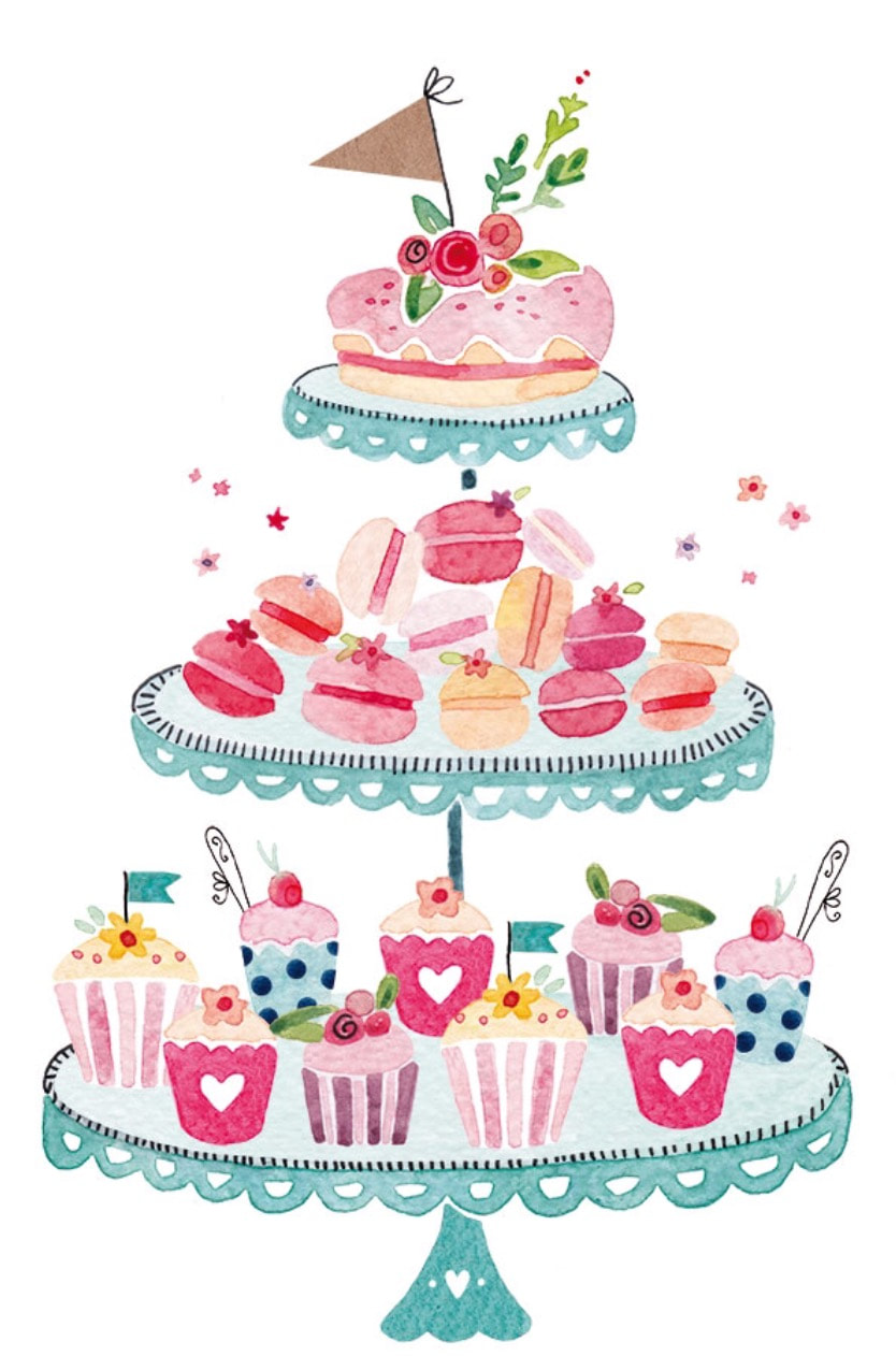 Sweet little cakes home. Baked goods clipart cake