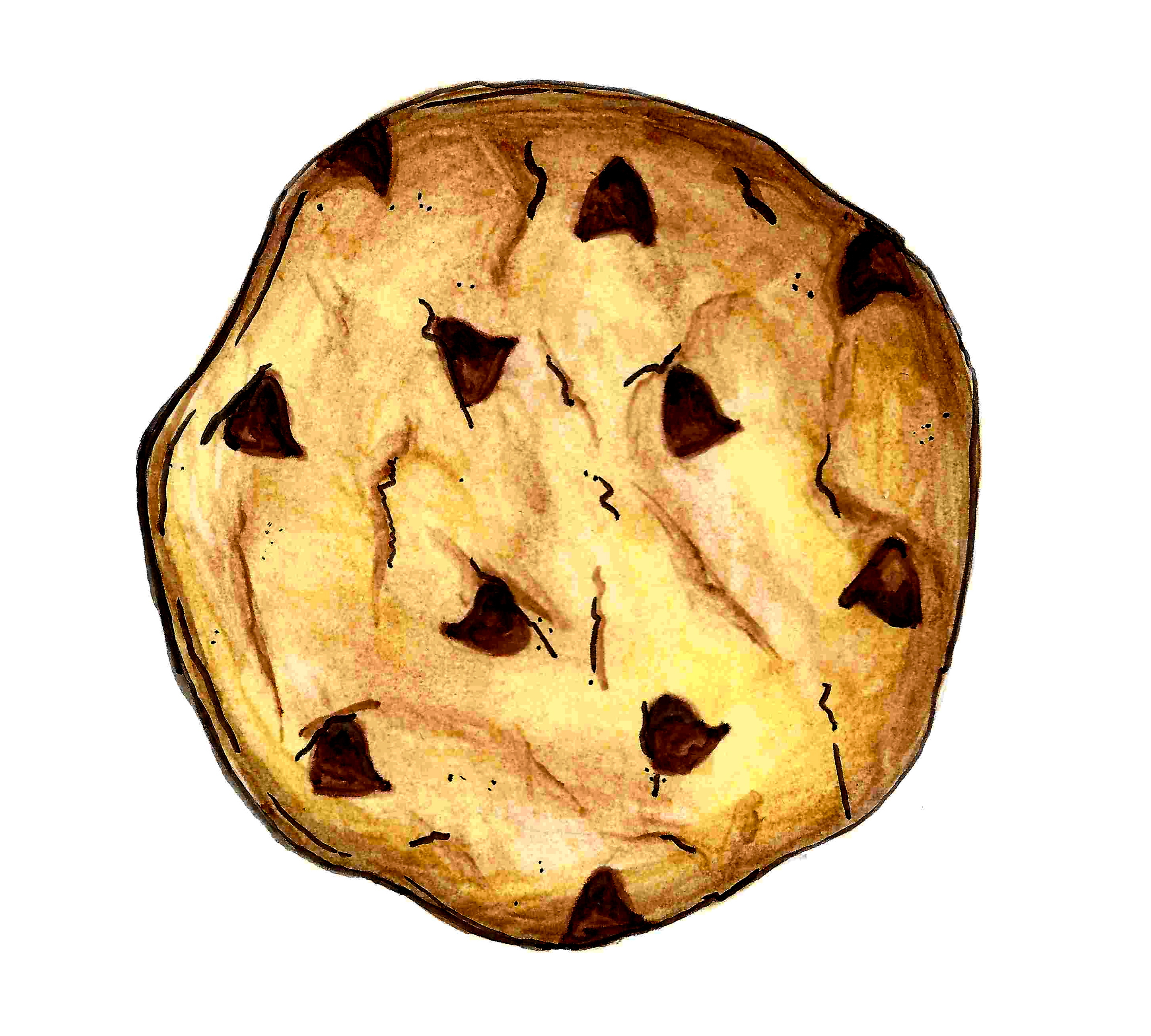 Drawing at getdrawings com. Baked goods clipart chocolate chip cookie