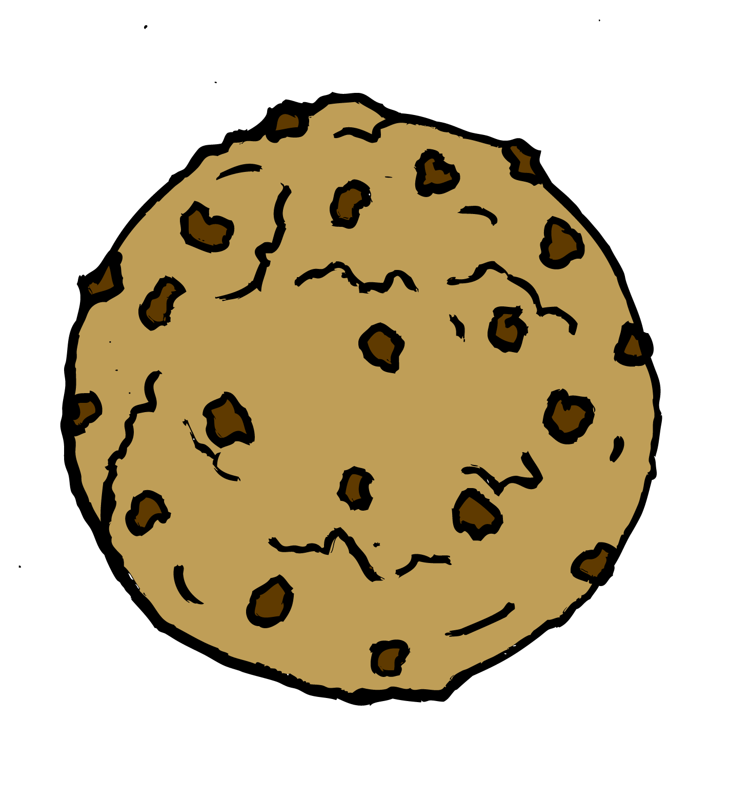 Chips clipart template. Chocolate chip cookie clip