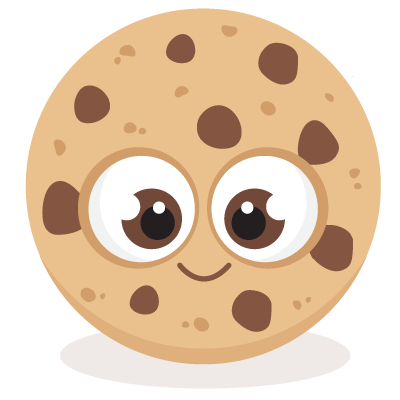 Cute chocolate chip cookie. Clipart cookies