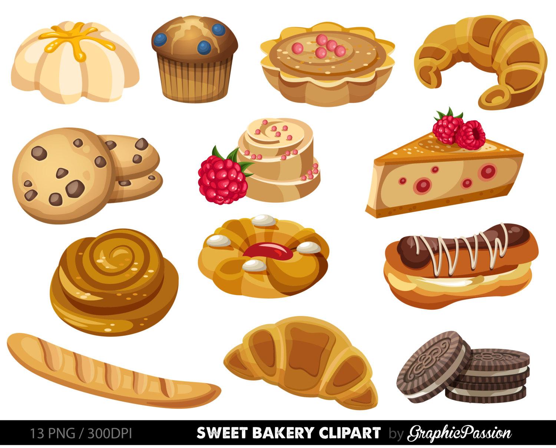 Bakery sweet treat clip. Baked goods clipart church