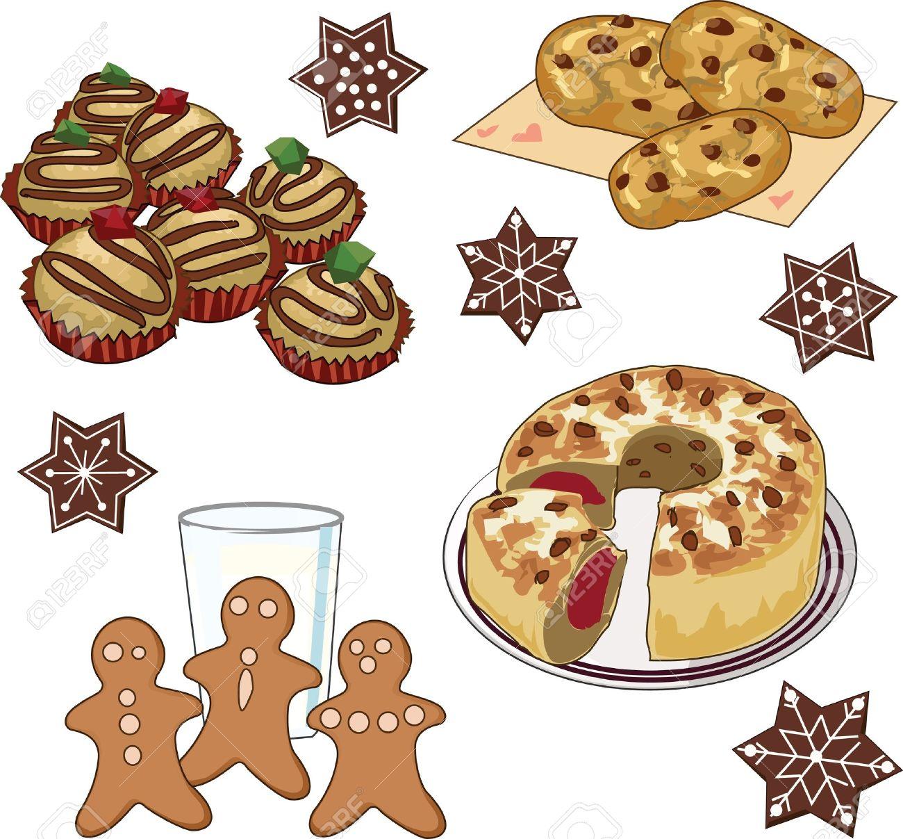 Baked goods clipart clip art. For christmas fun