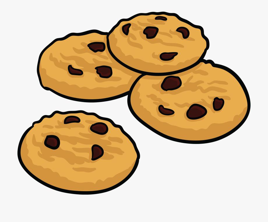 Coockie cartoon chocolate chip. Cookies clipart baked goods