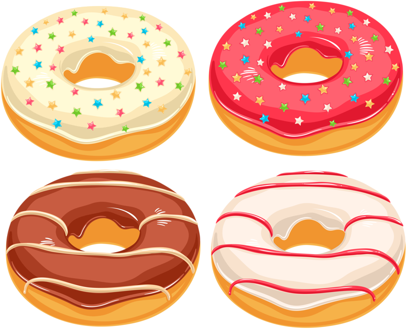 donuts clipart eating