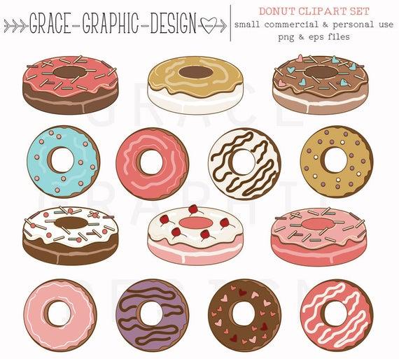 Donut clipart donut cake. Food baking hand drawn