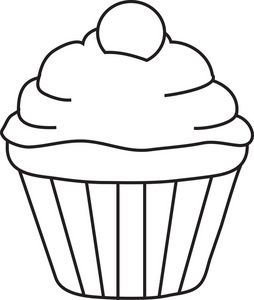 Baked goods clipart drawing. Cupcake clip art images