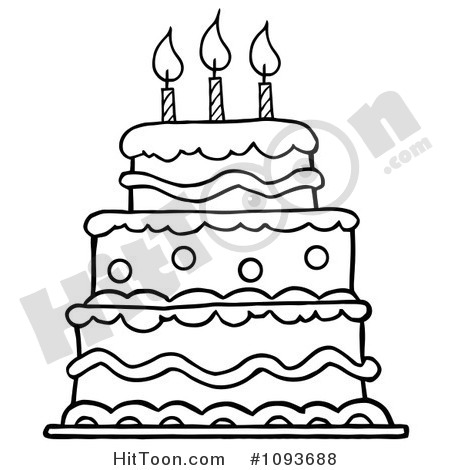 Birthday cake pencil at. Baked goods clipart drawing